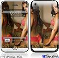 iPhone 3GS Skin - Whitney Jene Red Lace 8175